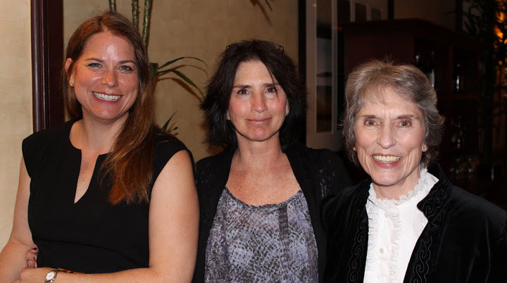 Photo of Cristin, Vanessa and Peggy - three generations of Transcribers
