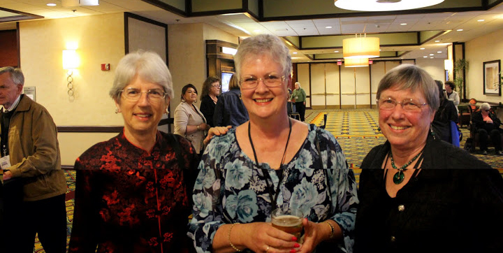 Photo of Patty Biasca with other members of Contra Costa Braille Transcribers