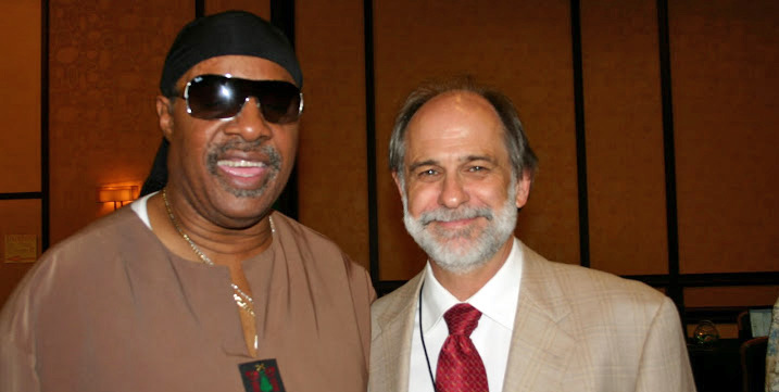 Photo of Grant Horrocks and Stevie Wonder?