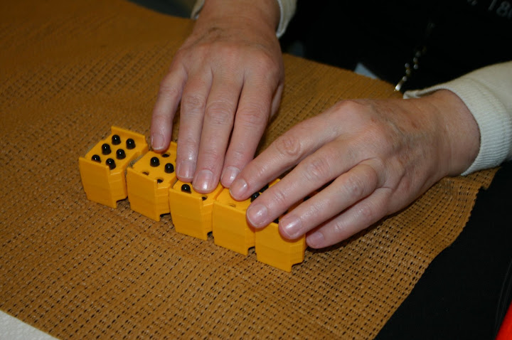 Photo of Braille cubes
