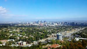 Areal scene of Los Angeles