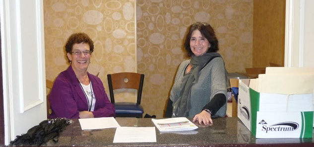 Photo of Vanessa Stenz and Linda McGovern, Registration Desk
